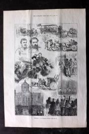 ILN 1880 Antique Print. Sketches at the Liverpool Election